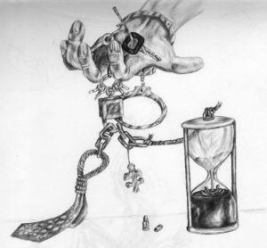 keyring-hourglass